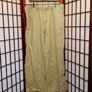 XL khaki linen pants